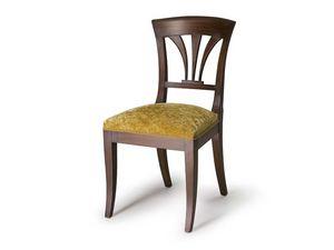 Art.133 chair, Chaise avec dossier en bois, style classique
