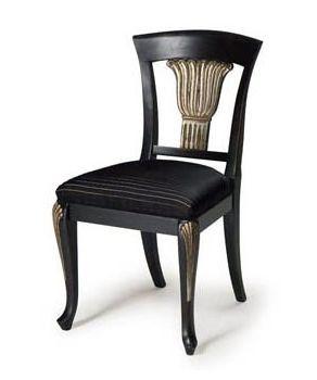 Art.139 chaise, Chaise classique en bois de hêtre, assise avec ressorts