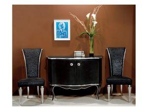 Art. 1781 Diva, Chaise en bois, rembourrée avec lame, pour le salon