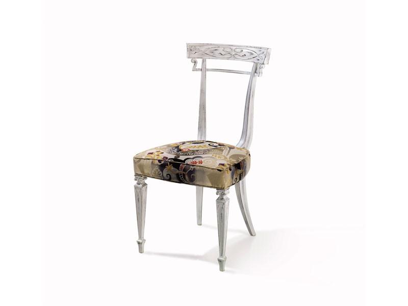 Art.244 chair, Chaise en hêtre personnalisable, style classique de luxe