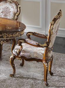 ART. 2968, Chaise de style classique avec accoudoirs