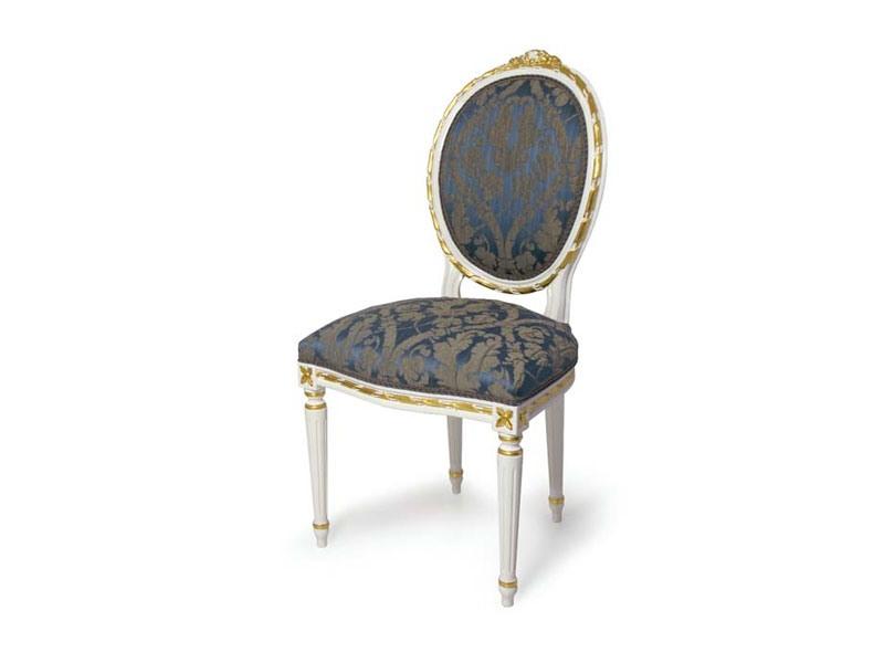 Art.439 chair, Chaise rembourrée avec dossier ovale de style Louis XVI