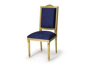 Art.441 chair, Chaise rembourrée en bois de hêtre, de style Louis XVI