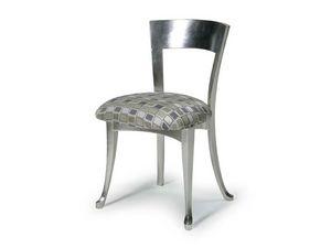 Art.446 chair, Chaise en bois avec siège rembourré, style classique