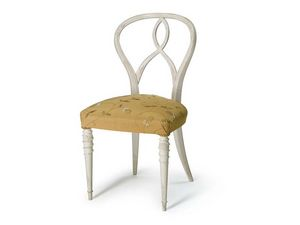 Art.492 chair, Chaise en noyer brut, siège rembourré