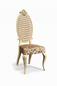 Art. 502s, Chaise classique en bois sculpté et paille de Vienne