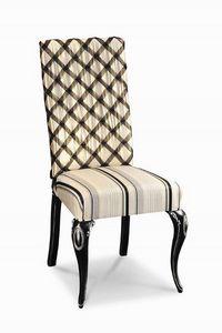Art. 503s, Chaise en bois rembourrée avec sculptures, pour hôtels