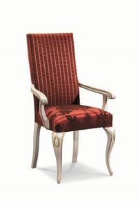 Art. 503p, Chaise classique avec accoudoirs, en bois, fabriqué en Italie