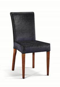 Art. 504s, Chaise rembourrée avec pieds en bois, faite main