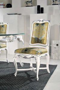 Art. 505s, Classique, chaise, structure, décoré, argent, feuille