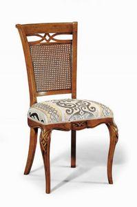 Art. 507s, Chaise avec sculptures et décorations, avec dossier canne