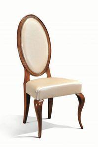 Art. 513s, Chaise en bois avec dossier ovale pour salle à manger