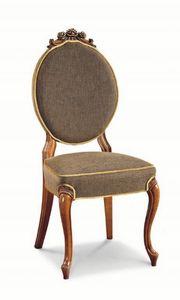 Art. 546s, Chaise de luxe, avec sculptures et incrustations, avec dossier ovale