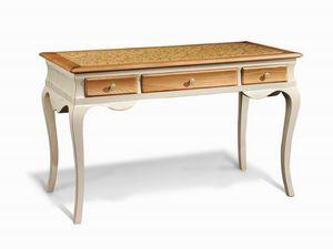 Art. 713, Bureau en bois, avec pieds sinueux, pour bureau