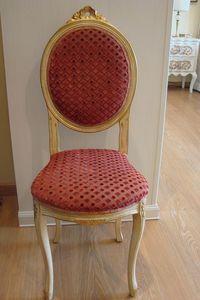 Art. 835, Chaise classique pour la cuisine, bois vieilli