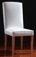 Aurora, Chaise de salle à manger classique, avec capitonné dans la face arrière
