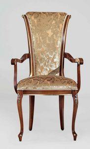 BS346A - Chaise, Chaise de style classique avec accoudoirs
