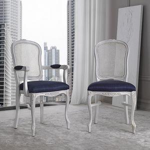 BS394S - Chaise, Chaise avec dossier en paille de Vienne