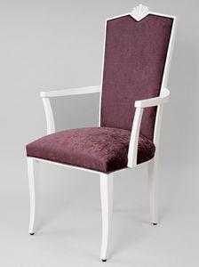 BS458A - Chaise, Chaise de style classique avec accoudoirs