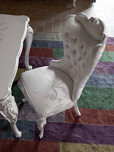 Carpi chaise, Chaise de style classique avec rembourrage capitonné