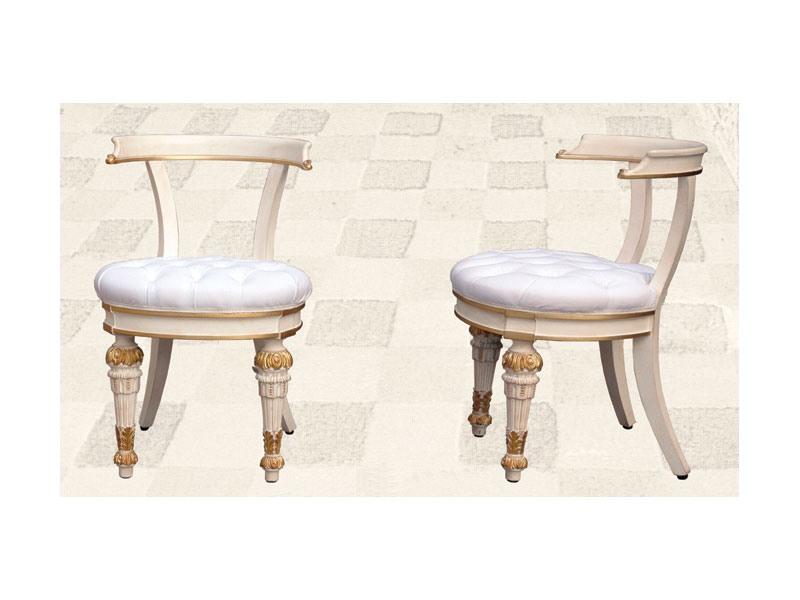 Chair art. Soft Dinner, Chaise matelassée pour les salles à manger, de style Direttorio