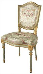 CHAISE ART. SD 0004, Chaise rembourrée dans le style vénitien, doré et laqué