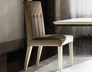 SIPARIO Chaise, Chaise en velours classique avec boutons dorés