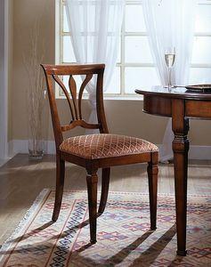 D 601, Chaise avec siège en tissu fabriqué en Italie