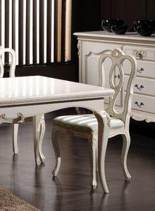 Desiree Chaise, Chaise classique en bois laqué blanc