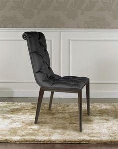 Epoque, Chaise classique moderne en bois, en touffe