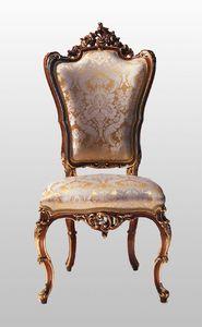 F867, Fauteuil sculpté avec assise et dossier rembourrés