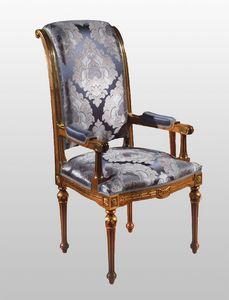 F500 Chaise, du tableau dans le style de luxe classique, en bois sculpté solide