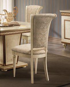 Fantasia Chaise, Chaise de salle à manger luxueuse, de style néoclassique