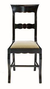 Grosseto ME.0964.T, Chaise en noyer avec siège rembourré, dans un style classique