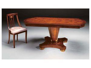 IMPERO / Stuffed chair, Chaise de style classique en bois avec assise rembourrée
