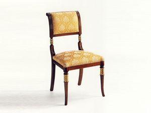 Lamb, Chaise classique en bois, rembourré, pour hôtel