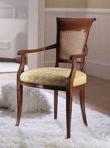 M 606, Chaise avec dossier canne pour salles de séjour classiques