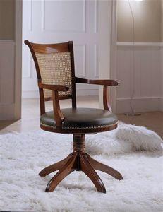 M 616, Chaise pivotante avec paille Vienne, avec accoudoirs