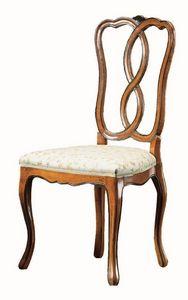 Modigliani RA.0987, Chaise en noyer, de style '800, pour les salles à manger classiques