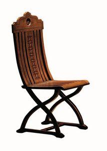 Orbetello ME.0977, Noyer chaise marquetés, pour les salons classiques