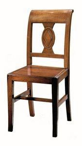 Piombino ME.0961.L, Chaise entièrement en bois, dans un style classique