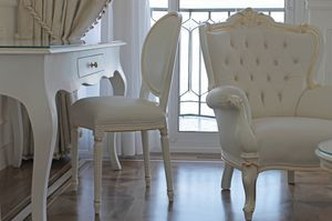 Rotondo aux cuir, Chaise rembourrée classique