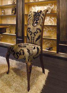 Royal chaise, Chaise de salle à manger classique, avec une sculpture précieuse