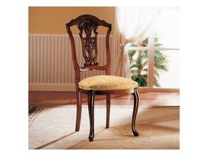 ROYAL NOCE / Chair, Chaise en bois avec siège rembourré pour salle à manger