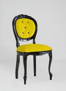 S17, Chaise classique en bois peint noir