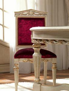 San Pietroburgo Art. SED02/VP/L51, Chaise sculptée pour salle à manger classique