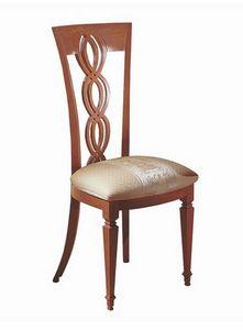 SE28, Chaise en bois, tresse dans le centre-arrière, la salle à manger