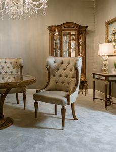 Chaise 1438, Chaise rembourrée pour table à manger
