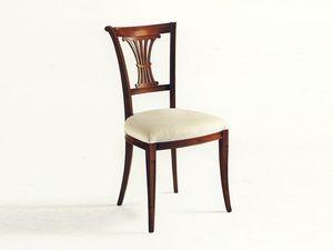 Shelley, Chaise classique, assise, dossier avec des sculptures