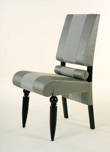 Siamodonne, Chaise classique de luxe, en bois massif, pieds tournés